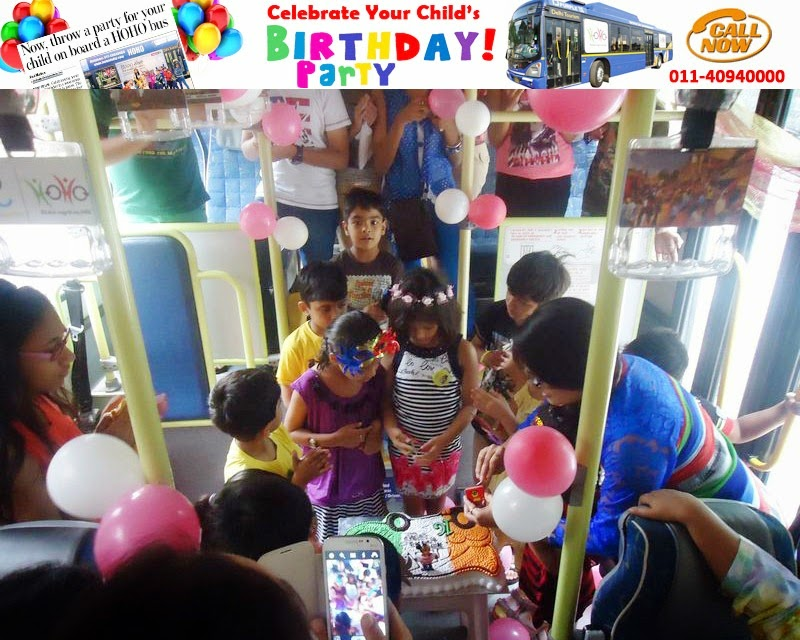 Celebrate Birthdays and Parties in HOHO Delhi Bus