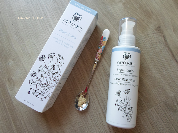 Review Odylique Repair Lotion for irritated, itchy skin on face and body