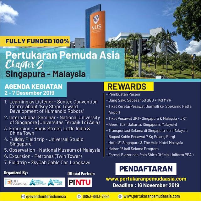 (Fully Funded) Pertukaran Pemuda Asia Chapter 2 SINGAPURA MALAYSIA