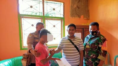 Babinsa,  Bhabinkamtibmas dan Kades Taropo Mediasi Kasus Pencurian Kambing