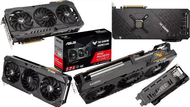 ASUS-TUF-Radeon-RX-6800-XT-O16G-Gaming-Box-Top-Bottom-Front-Side-Back-Views-I/O