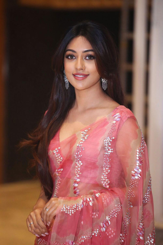 Maha samudram actress Anu Emmanuel In Pink Saree