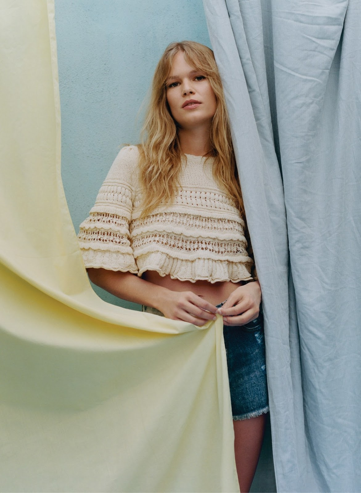 Anna Ewers - Isabel Marant top and Givenchy shorts