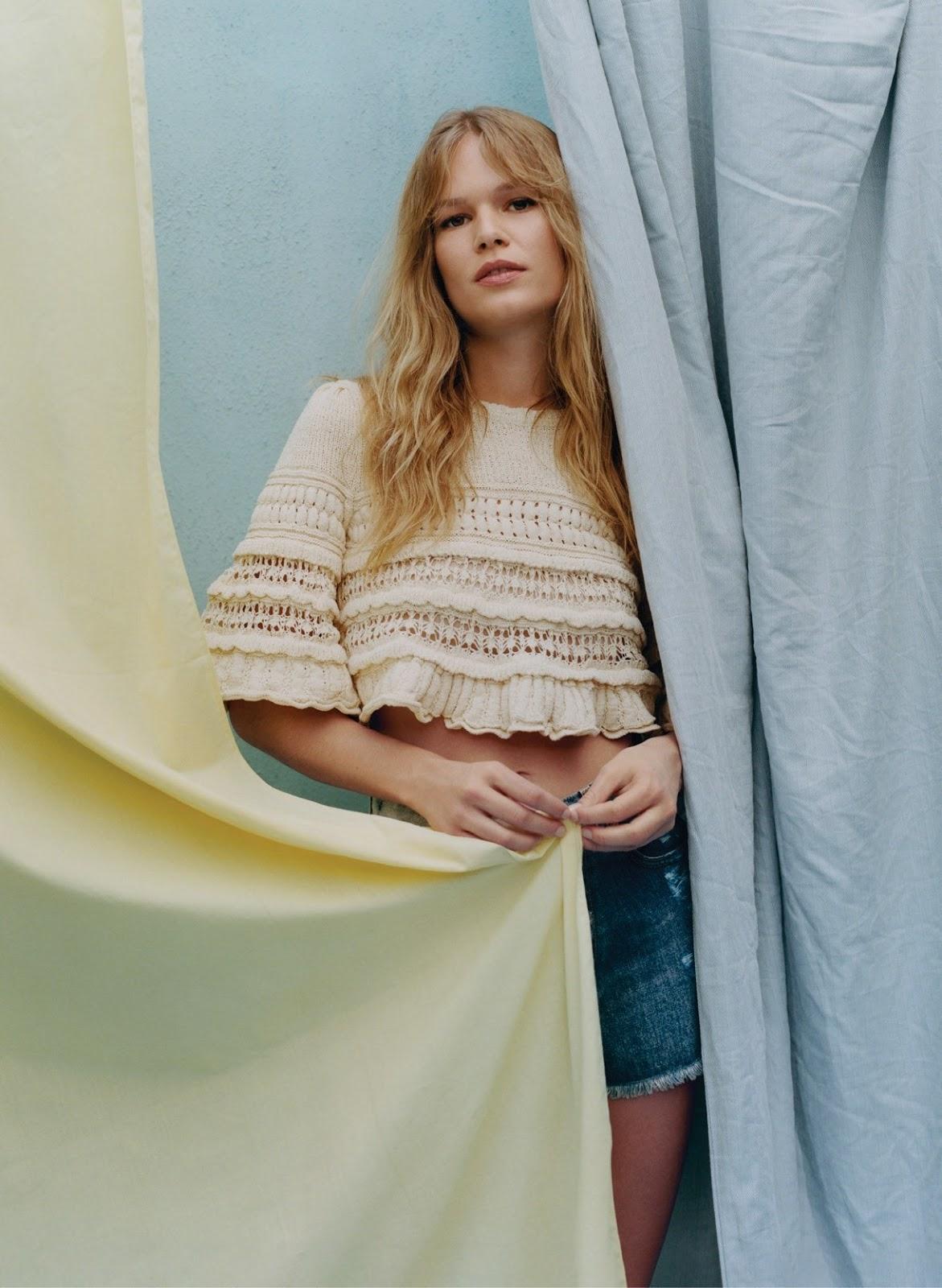 Anna Ewers - Isabel Marant top and Givenchy shorts