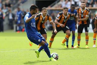 Riyad Mahrez, Hull 2-1 Leicester