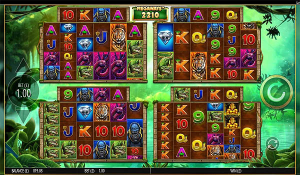 Main Gratis Slot Indonesia - Gorilla Gold Megaways (Blueprint Gaming)