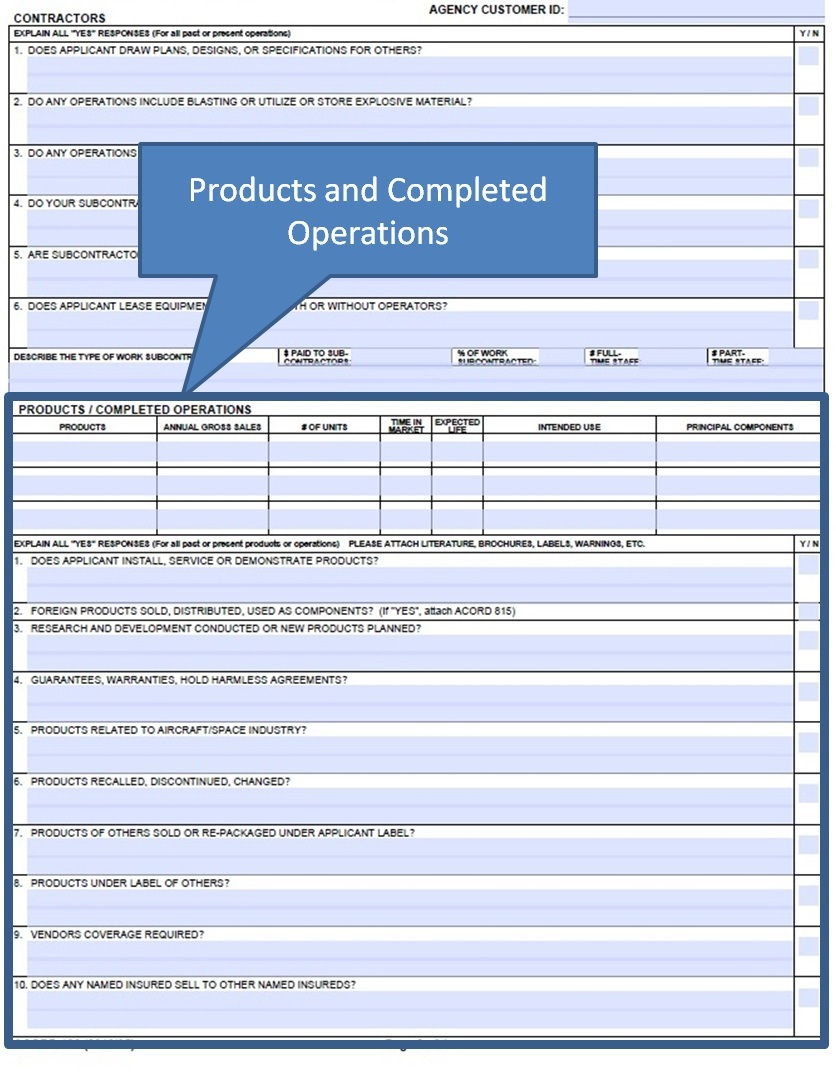Simply Easier Acord Forms How To Complete The Acord 126 Products