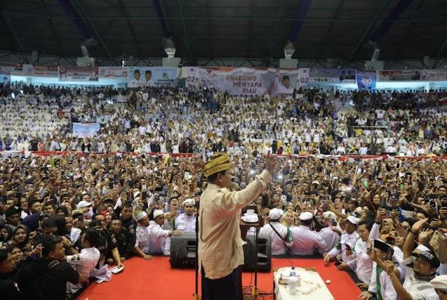 Prabowo di Pekanbaru Riau, Gelanggang Remaja Penuh Sesak oleh Pendukung