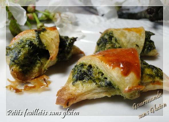 croissant feuilleté blette sans gluten