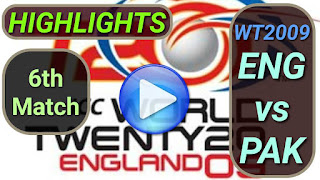 ENG vs PAK 6th Match