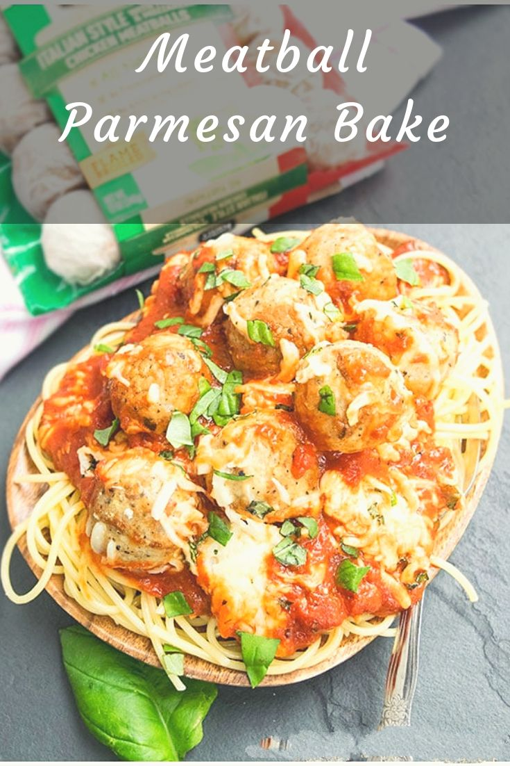 Quick and easy MEATBALL PARMESAN bake recipe is a quick 30 minute weeknight dinner. This meatball parmesan (low carb recipe) is best served with pasta.