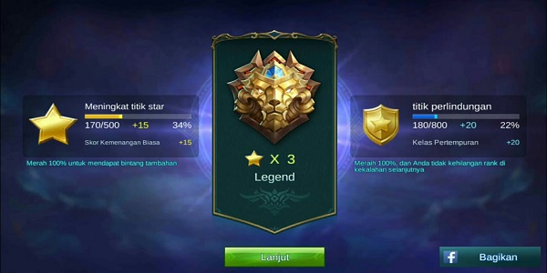 Rank Bermain Mobile Legends