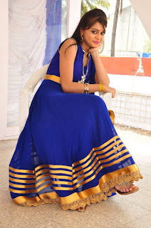 Actress Harisha Krishna Stills in Beautiful Blue Chudiddar  0042.jpg