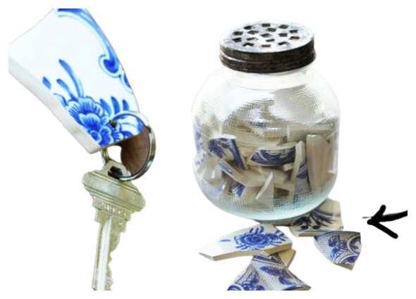 reciclar cerámica rota, manualidades, técnicas pretecnología