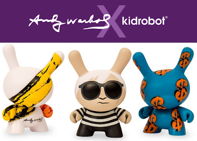 Coming Soon - The Andy Warhol x Kidrobot Vinyl Figure & Plush Collection