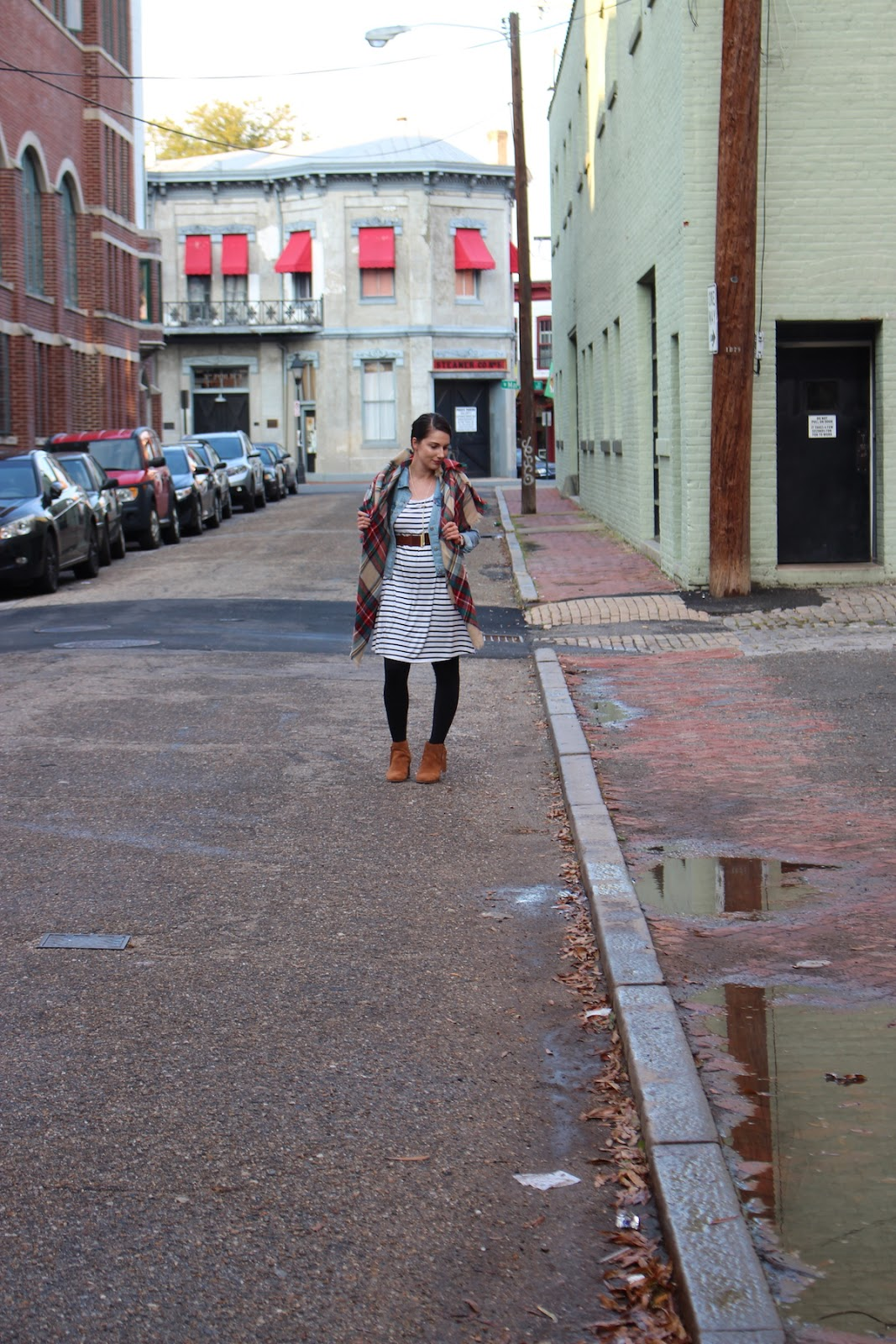 This is a shot of me in the middle of the street in Richmond Virginia.