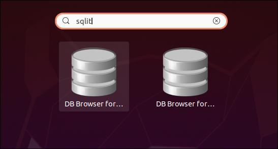 متصفح DB اثنين لرموز SQLite في نتائج البحث.