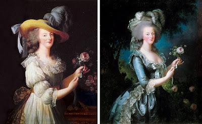 retratos de Maria Antonieta por Vegée