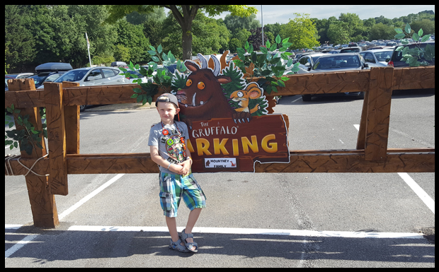 Getting our own private parking space when we stay at Chessington's Gruffalo themed stay