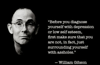 Necromancer author William Gibson depression quote meme