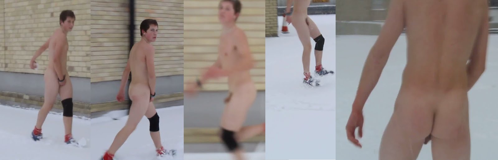 Nude dudes in the snow