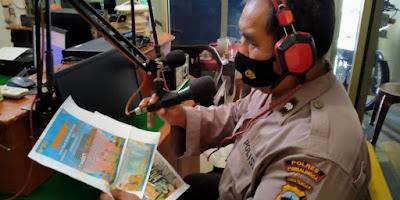 Polsek Bukateja Gencar Sosialisasikan Penerima Polri Tahun 2021 Melalui Radio