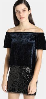 Vestido juvenil de dos piezas con hombros caidos y falda de lentejuela 2018