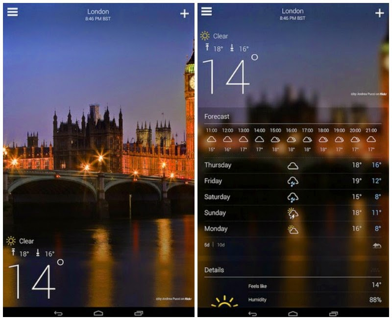 تطبيق Yahoo Weather