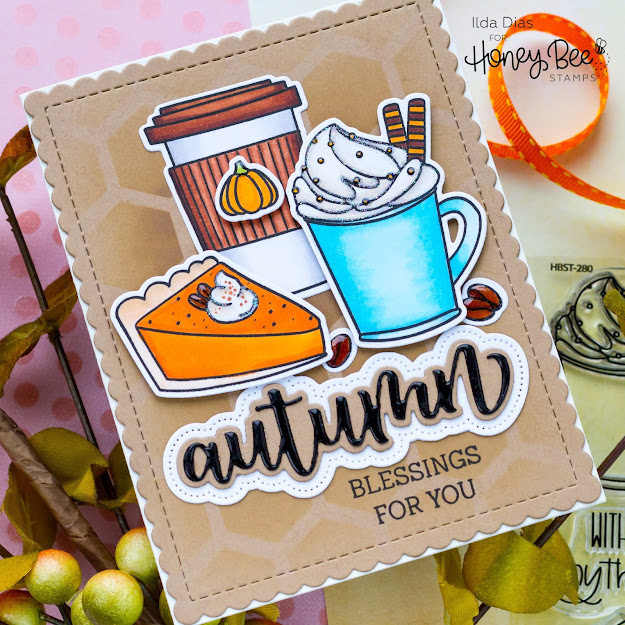 how to,blog hop,handmade card,Stamps,Giveaway,Honey Bee Stamps,Autumn Afternoon Release, Sweet Sunflowers, Treat Yo Self, ilovedoingallthingscrafty,Fall,stamping,Die cutting,card making,