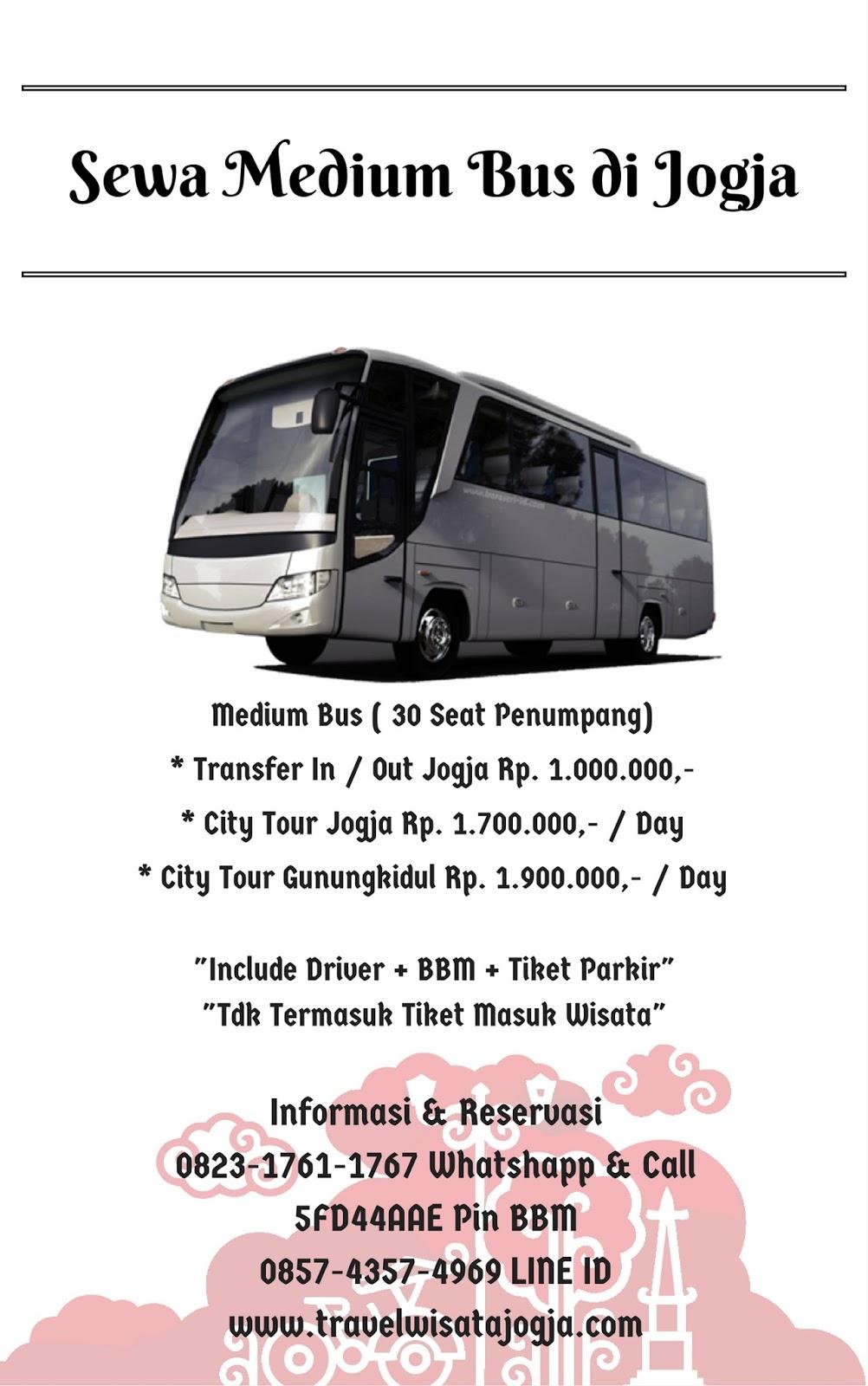 Sewa Medium Bus 30 Seat di Yogyakarta