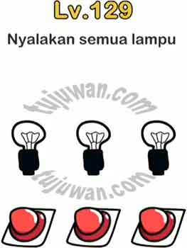 Brain Out : Nyalakan Semua Lampu Jawaban Brain Out di Level 129