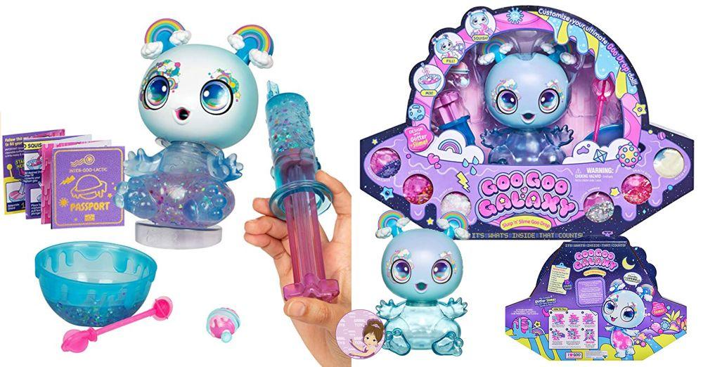 Goo Drop Galaxy DIY slime maker kit 8-inch doll