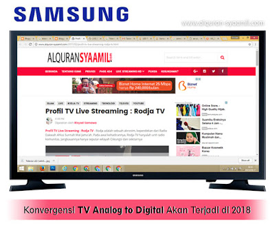 Konvergensi TV Analog to Digital Akan Terjadi di 2018