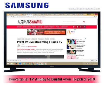 Konvergensi TV Analog to Digital Akan Terjadi di 2018