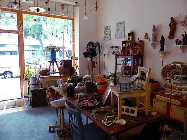 Inside Pira-X vintage store in Friedrichshain, Berlin