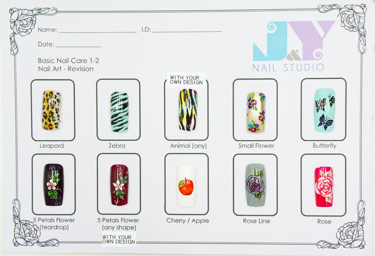 J Nail Studio Worksheets For Students