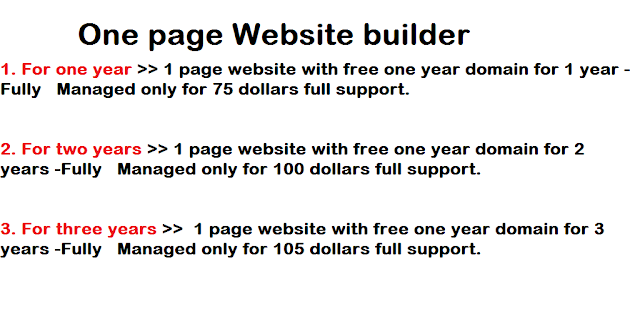 One Page Website Builder