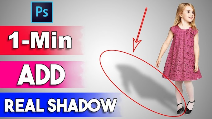 1-Minute Create Perfect Shadow in Adobe Photoshop