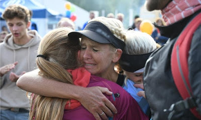 landkreislauf regensburg finish holly zimmermann winner running ultra marathon trail runner
