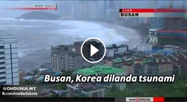 Busan, Korea Dilanda Tsunami Pada 5 Okt. 2016