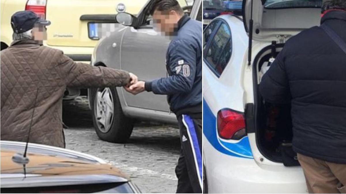 Polizia posteggiatori abusivi