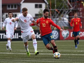 مشاهدة مباراة اسبانيا وجزر فاروه
