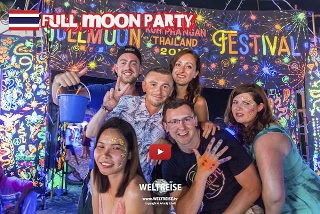 FULL MOON PARTY auf Koh Phangan - Wie krass ist das denn bitte? www.WELTREISE.tv #193
