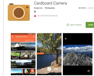 Cardboard Camera VR App