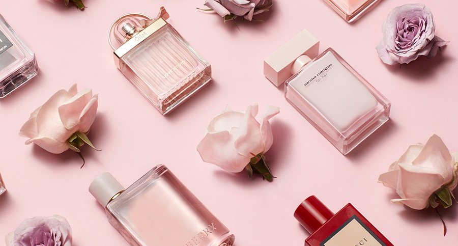 profumi e rose rosa