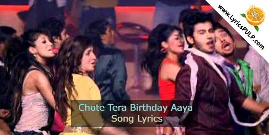 Chote Tera Birthday Aaya Song Lyrics • Birthday Song Hindi • Krantiveer The Revolution