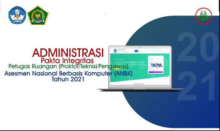 Format Pakta Integritas Petugas Ruangan - ANBK Tahun 2021