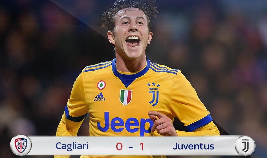 Juventus a fatica: 0-1 a Cagliari con gol decisivo di Bernardeschi