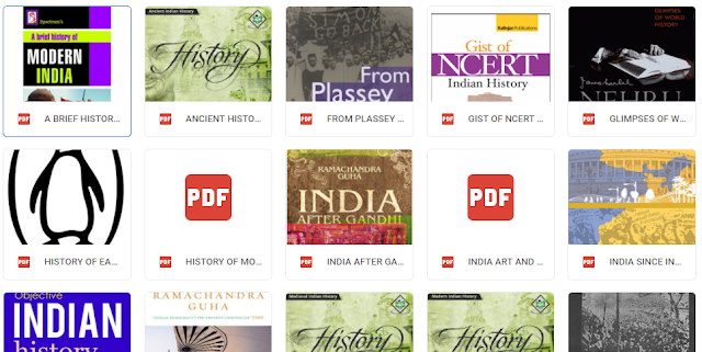 All Important EBooks and material for UPSC CSE History preparation(Prelims and Mains)