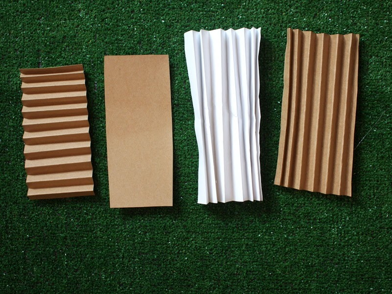 cardboard corrugation kid engineering bridges project